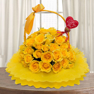 Golden Glow 30 Yellow Roses Online - online flowers delivery in dera bassi