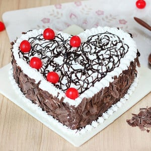 Heart Shape Black Forest - Cake Delivery in Mumbai