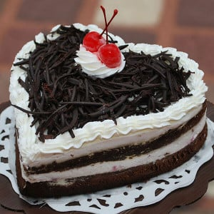 Heart Shape Black Forest Loved Cake