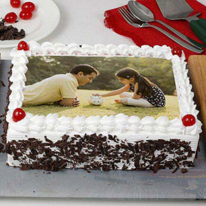 Happy Birthday Blackforest Photo Cake - Online Cake Delivery in Kurukshetra