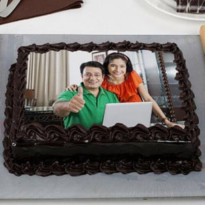 Rich Chocolate Photo Cake - Cake Delivery in Mumbai