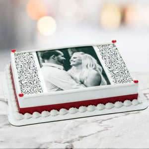 1 Kg Photo Cake Pineapple Eggless - Birthday Cake Online Delivery