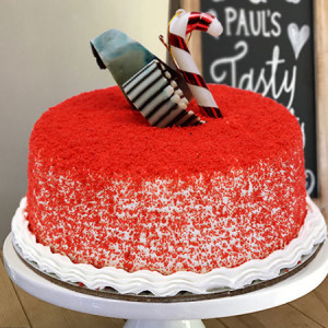 Red Velvet Round Cake - Cake Delivery in Mumbai