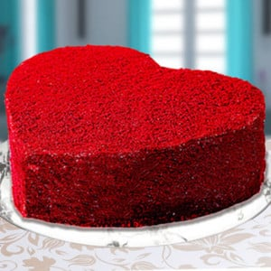 Heart Shape Red Velvet Cake - Online Cake Delivery in Kurukshetra