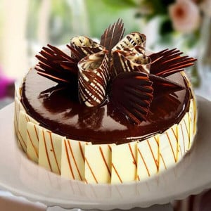 Marble Cake Black - Send Wedding Cakes Online