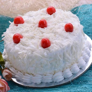 Online White Forest Cake 1kg - Cake Delivery in Mumbai