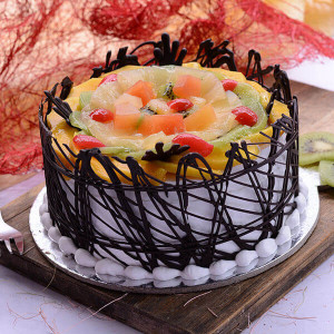 The Delicious Chocolate Twist 1kg - Cake Delivery in Mumbai