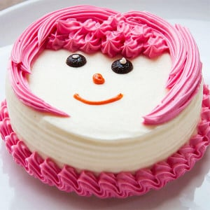 Pinky Face Pineapple Cream Cake
