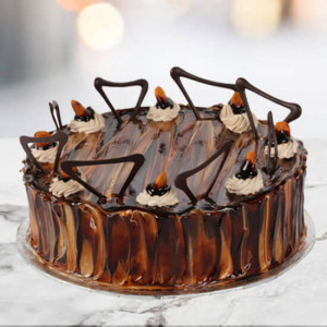 Online Coffee Almond Cake 1kg - Cake Delivery in Mumbai