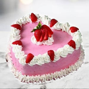 Online Cherry Strawberry Cake (1 Kg) - Cake Delivery in Mumbai