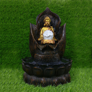 Resin Buddha Water Fountain Indoor - Send Gifts to Chandigarh