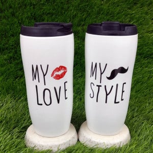 Forever Love Ceramic Mug Sippers Set of Two