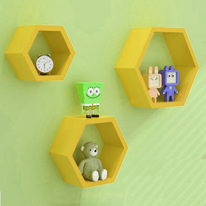 Yellow Diamond Separator Wall Shelf