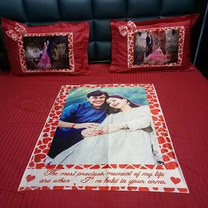 Personlaized Bed Sheet - Send Gifts to Panchkula Online