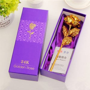 24K Golden Rose - online flowers delivery in dera bassi