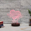 Rose with Heart Led Lamp
