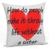 Love U Sister Cushion