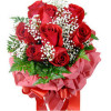 Bunch Of 8 Red Roses