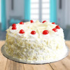 Tempting White Forest Cake