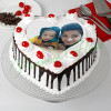 Black Forest Cream Photo Cake for Dad