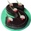 Chocolate Truffle Alphabet Cake