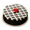 Strawberry On Chocolate Truffle Cake