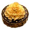 Flower on Chocolate Truffle Cake