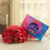 8 Red Roses With Cadbury Celebration