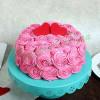 Rose Cream Valentine Cake Vanilla Eggless