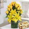 Sunshine Vase Arrangement With Rocher