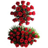 2 Tier Red Arrangement