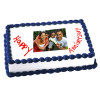 1kg Anniversary Photo Cake Eggless
