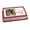 Happy Birthday Photo Cake Eggless 1kg - Birthday Cake Online Delivery