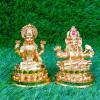 Gold Plated Lakshmi Ganesha Idols Statue