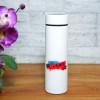 Personalised White Bottle with Led Temperature indicator