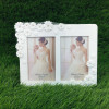 Lovely White Dual Photo Frame