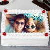 Pineapple Photo Cream Cake Half Kg