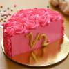 Dreamy Pink Chocolate Half Cake
