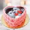 Joy Of Love Photo Cake Heart Shape