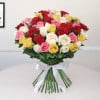 Feeble Appreciation 50 Red Yellow and White Roses Bunch