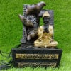 Resin Buddha Monk Water Fountain Indoor