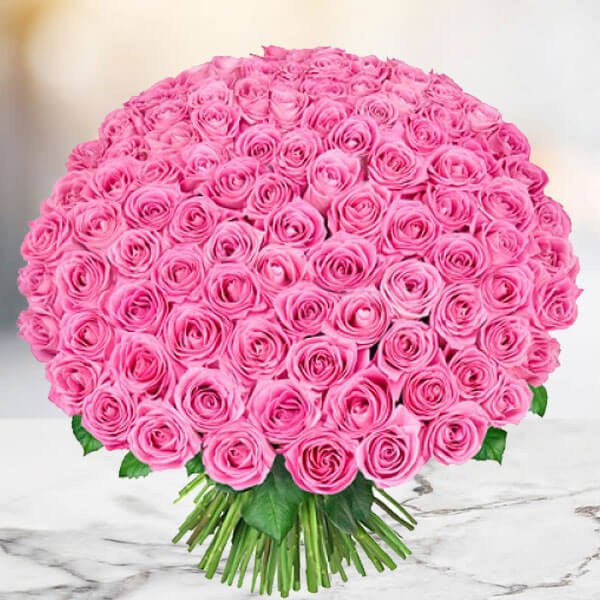 1000 Pink Roses Bouquet