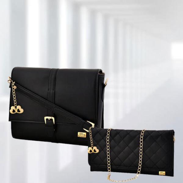 AP Scarlett Black Bag