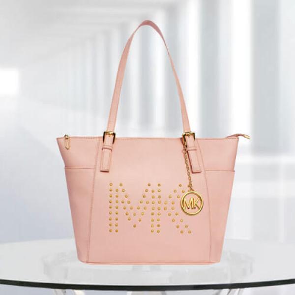 MK Zinnia Studded Pink Color Bag