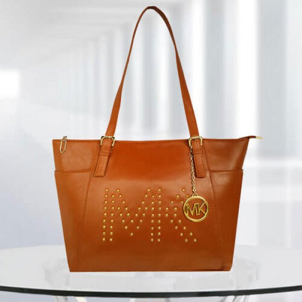 MK Zinnia Studdedtan Color Bag