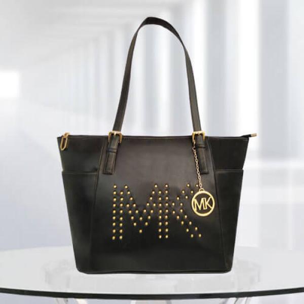 MK Zinnia Studded Black Color Bag