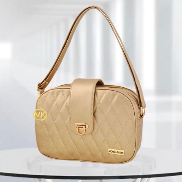 MK Whitney Golden Color Bag