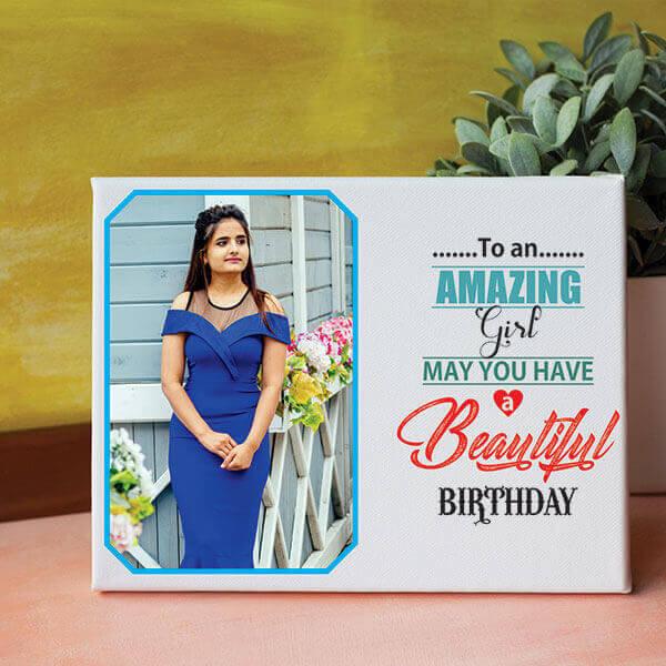 Amazing Girl Birthday Canvas