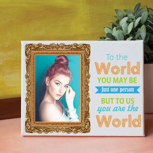 You Are The World Personalized Canvas
