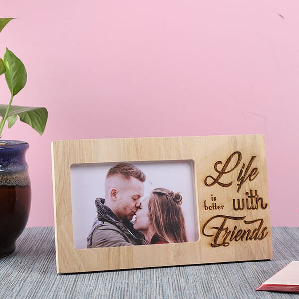 Life With Friends Wooden Frame